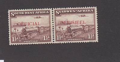 South West Africa # O20 Vf-Mh Pair Officials Cat Value $40+