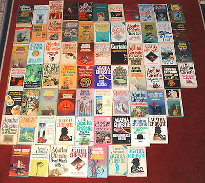 Lot of 71 AGATHA CHRISTIE PB Death In The Air+On Nile+Comes As End+An Overdose++
