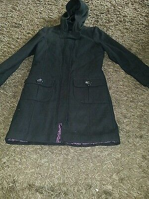 Girls next hooded wool mix coat age 11-12