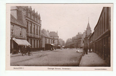 George Street Stranraer Wigtown Real Photograph Early 1900's Davidson's 5162-4