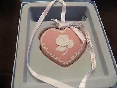 Wedgwood 2010 Pink Heart Ornament NIB