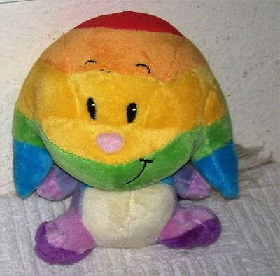 """Neopets KACHEEK Small 5.5"""" Plush w/ The Rainbow Colors In Order ROYGBIV"""