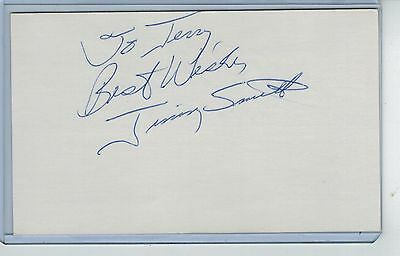 Jim Jimmy Smith Index Card Signed 1982 Pittsburgh Pirates Psa/dna Certified