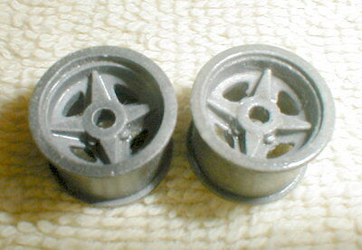 Clear Coated Vintage 1960's LOTUS REAR Wheels Tapered Axle 1 Pr COX  #13014 1/24