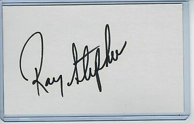 Ray Stephens Index Card Signed 1990-91 Cardinals Rangers Psa/dna Certified