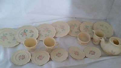 Vintage Chilton Globe Vintage Play Dishes Pfaltzgraff Tea Rose Pattern floral