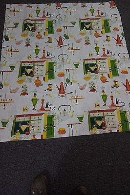1950's Print Tablecloth- Happily-Married Print by Saison-54x48- 50'S LOOK - SALE