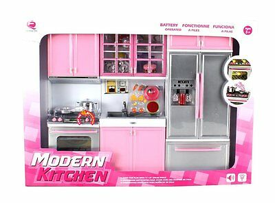 Modern Kitchen Battery Operated Playset for Kids Educational Cook Pretend Play