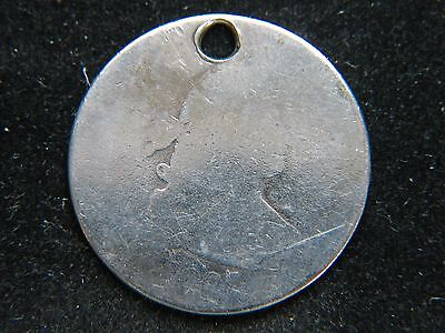 1807 25C Draped Bust Quarter Rare Key Date Type Coin Holed Engraved