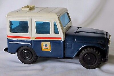 VINTAGE 1970'S USPS MAIL JEEP BANK in GOOD USED CONDITION-see photo's in gallery