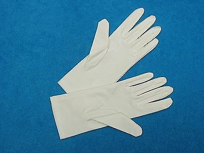 #G38 Ivory Matte-Satin (Low Shine) Wrist-length Formal Bridal GLOVES 9 inch long