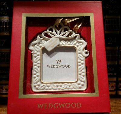 Wedgwood Jasperware White 2004 Our First Christmas Xmas Ornament Frame