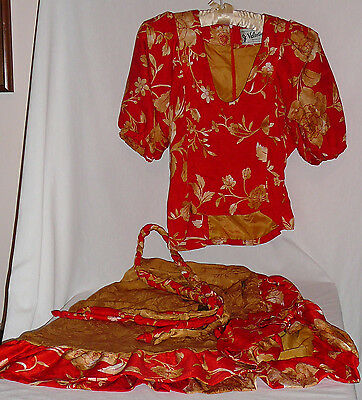 Two piece dressy silk outfit, vintage, custom made by Valentino, Sedona Arizona