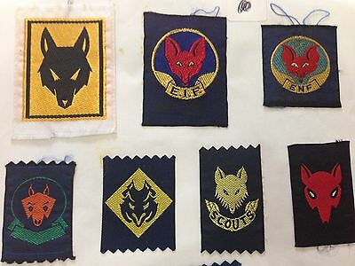 wolf head Scout Badges ( RARE and old badges)