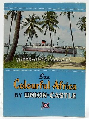 See Colourful Africa by Union-Castle Mail Steamship Co. 1950's Travel Booklet