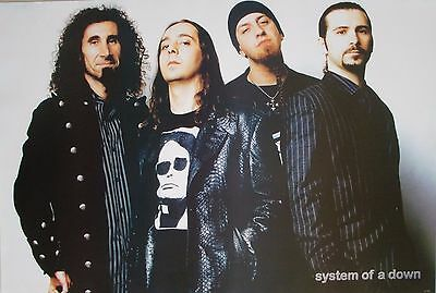 "System Of A Down ""band Standing Together In Black & White"" Poster From Asia"