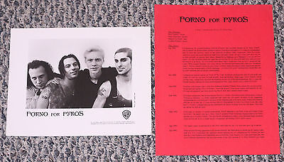 Porno For Pyros - 1993 press kit with biography and 8x10 photo