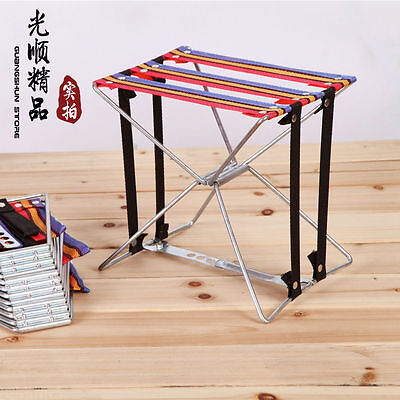 Portable Outdoor Stool Folding Seat Aluminum Chair Fishing Camping Travel Picnic