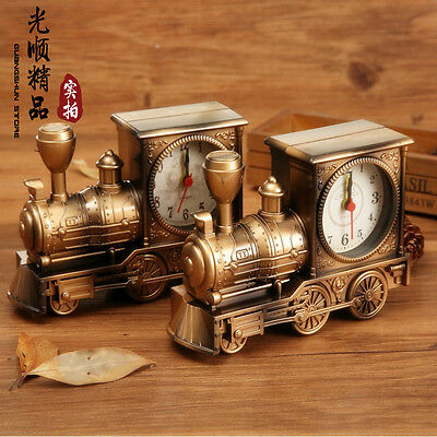 Metal Vintage Locomotive Model Hand-Made Craft Metal Bar Decor Art 1:12 gifts