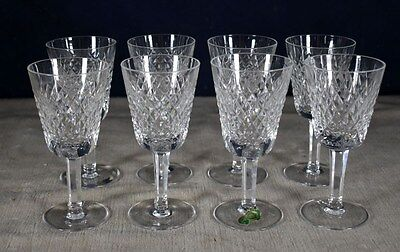 Fabulous Set 8 Waterford Alana Cut Crystal White Wine Glasses - Stemware