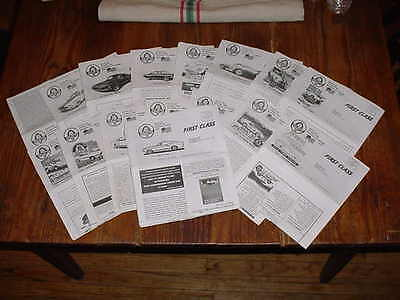 The Shelby American Snakebite Bulletin #95 July 2003 To #115 Jan 2009 Lot Of 20
