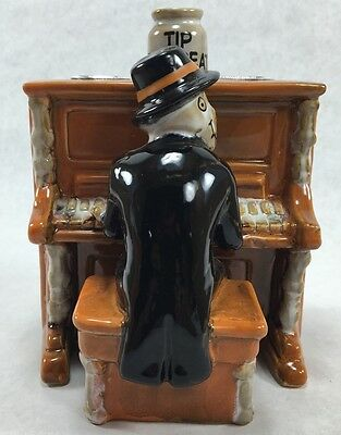 Yankee Candle Boney Bunch Piano Player Joel Taper Candle Holder Halloween Decor