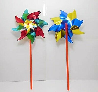 100 New Colourful Flower DIY Windmill wholesale Mixed