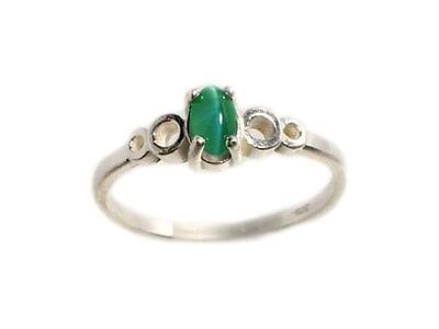 19thC Antique Handcrafted ½ct Color Change Alexandrite Cats Eye Sterling Ring