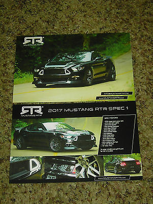 2017 Ford Mustang Rtr Brochure Double Sided Card Mint!