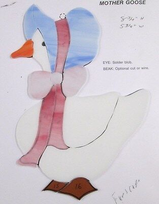 Pre-Cut Stained Glass / Mosaic  Mother Goose Kit