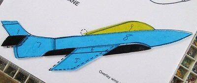 Pre-Cut Stained Glass / Mosaic  Jet Plane Kit