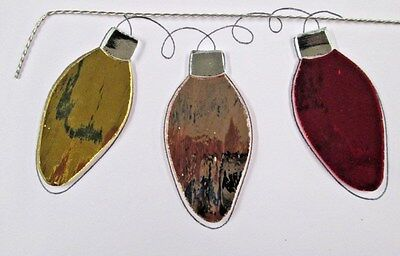 Pre-Cut Stained Glass / Mosaic Silver Coats Xmas Lights Kit