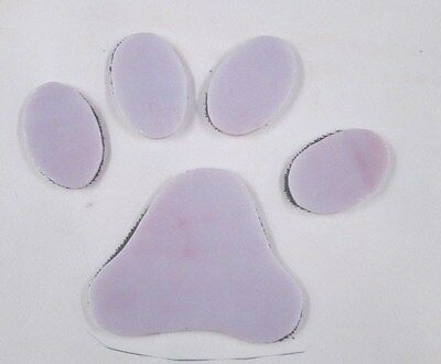 Precut Stained Glass, PINK CAT PAW PRINT Mosaic kit, type 2