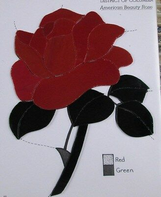 Pre-Cut Stained Glass / Mosaic American Beauty Red Rose Kit