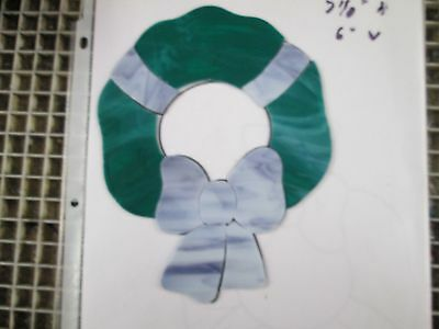 CHRISTMAS WREATH, Precut Stained Glass Mosaic Art Stepping Stone Inlay kit