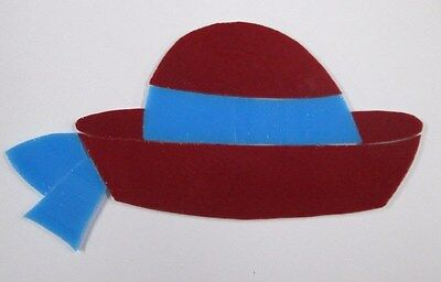 Pre-Cut Stained Glass Red Hat 1, Mosaic Kit, Suncatcher