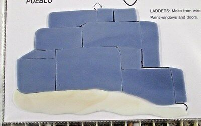 SOUTHWESTERN PUEBLO, Precut Stained Glass Mosaic Art Stepping Stone Inlay kit