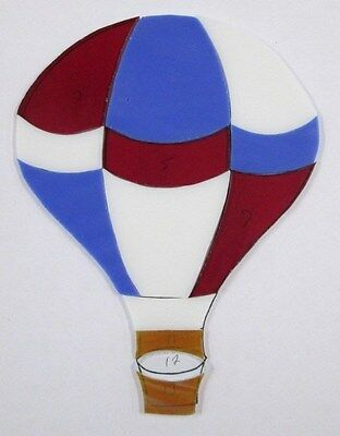 Pre - Cut Stained Glass Hot Air Balloon #2,  Mosaics, Stepping Stone, Suncatch