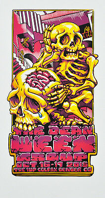 Dean Ween Group - 2015 - Denver - Artist Proof - Boognish - Poster- A J Masthay