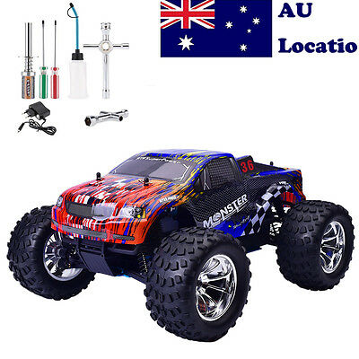 HSP 94188 1/10 Scale RC Car Off Road 2.4G 4WD Monster Truck Nitro Gas free tool*