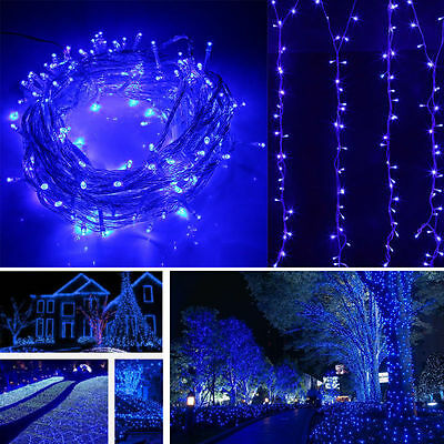 100M 500 Leds Xmas String Fairy Lights + 8-Modes Controller + UK Plug In/Outside