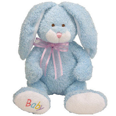 Baby TY - BUNNY HOP the Bunny (Blue Version) - MWMTs BabyTY Stuffed Animal Toy