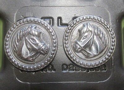 STAINLESS STEEL  Horse Head Rosettes Bridle Headstall