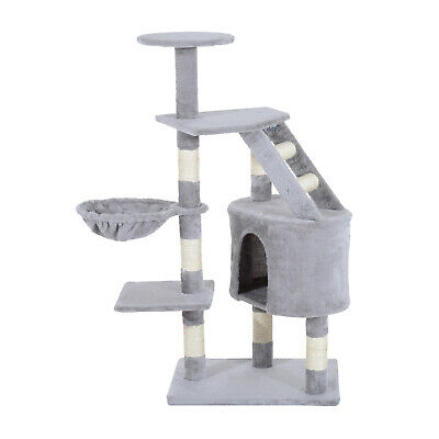 Pawhut Deluxe Cat Tree Climb Post Kitten Scratching Condo Furniture Activity