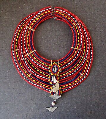 Vintage African Maasai Beaded Necklace
