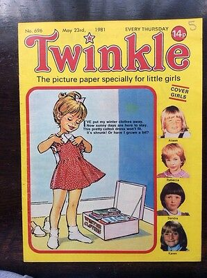 Twinkle Comic No 696. 23 May 1981. Vfn . Childrens Comic.