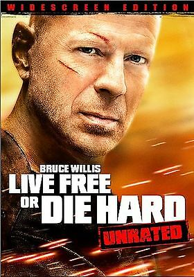 Live Free or Die Hard (2007 DVD Widescreen; Unrated Edition) Bruce Willis