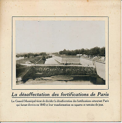 PARIS c. 1910 - Désaffectation Transformation des Fortifications - 67