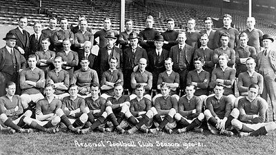 Arsenal FC Football Squad Team Photo 1920 - 21 Vintage, Reprint Photo 7x4 Inch