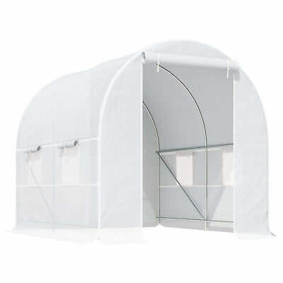 Outsunny Greenhouse Solid Frame Walk-in Garden Grow Large Insect Poly Tunnel